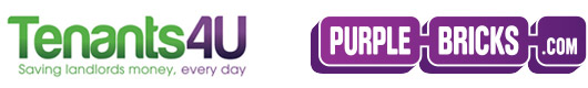 Purplebricks and Tenants 4U logos